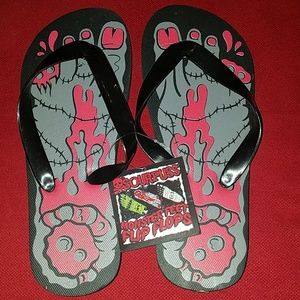 754e2db6863da Sourpuss Bloody Zombie Foot Flip Flops Shoes